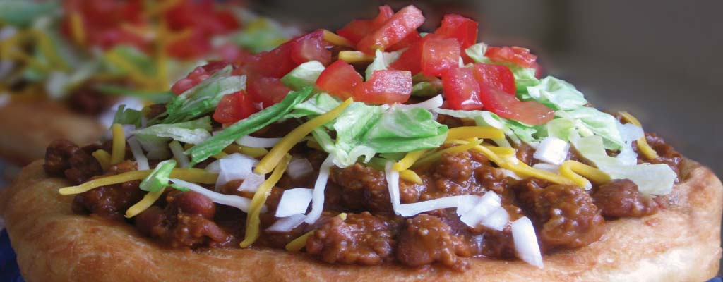Auntie's Original Chili Fry Bread Taco